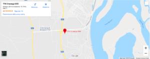 Карта проезда компания ООО «СТОЛИЦА ПРОМ»